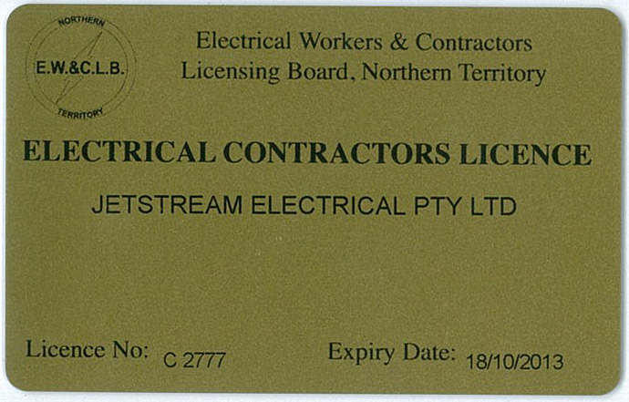 Contractors License Northern Territory